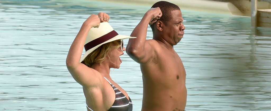 Beyoncé Suits Up in a Sexy One-Piece For a Fun Day by the Pool