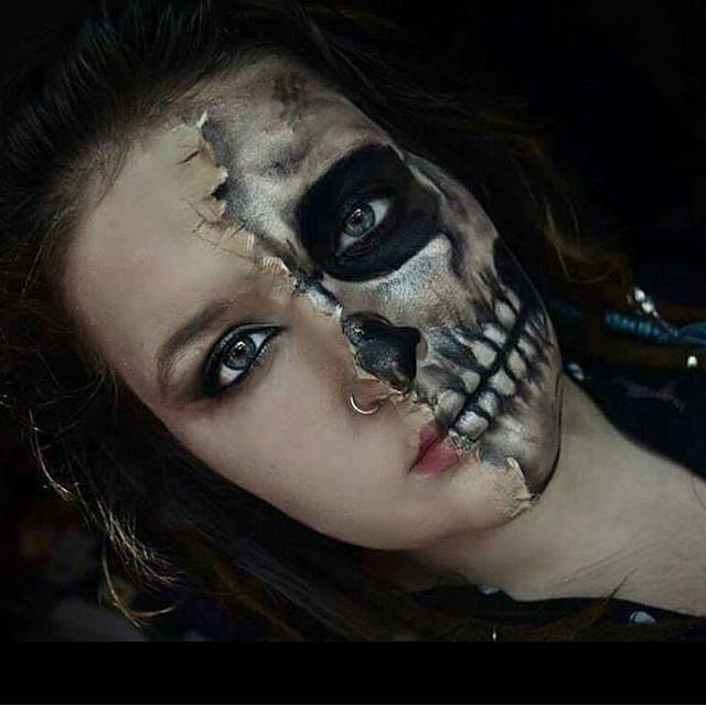 Makeup Beauty Hair &amp Skin 62 Terrifyingly Cool - Skeleton Halloween Costume Makeup