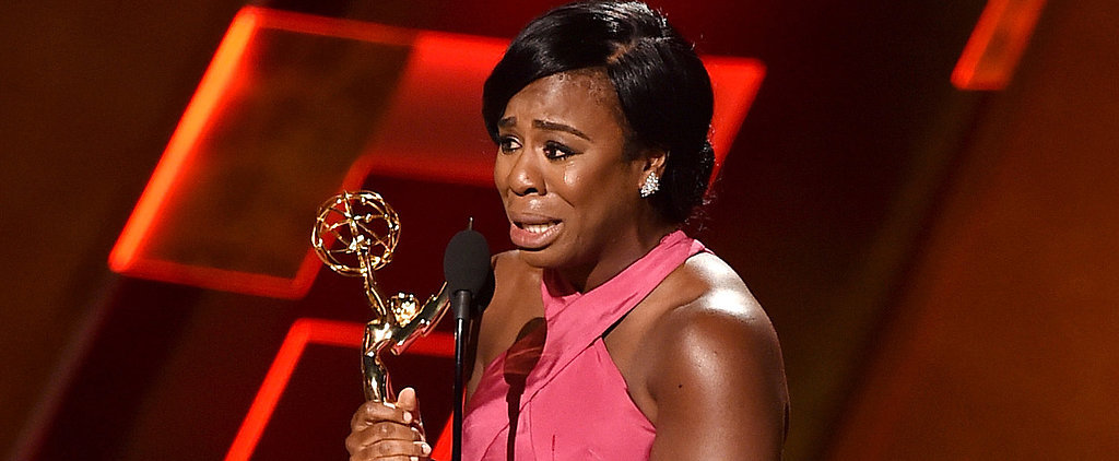Watch Uzo Aduba Completely Break Down Accepting Her Emmy