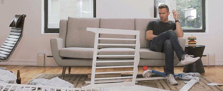 Watch Ryan Reynolds Put Together an Ikea Crib Like a Boss