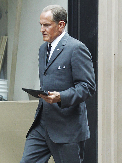 Woody Harrelson Is Unrecognizable as Former President Lyndon B. Johnson on Set of LBJ