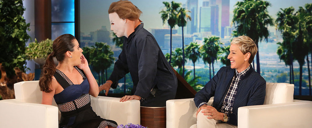 Ellen DeGeneres Proves That Lea Michele Really Is a Scream Queen