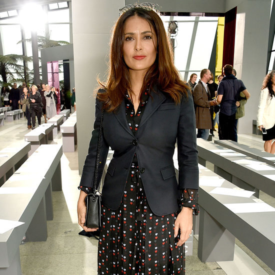 Salma Hayek at London Fashion Week 2015