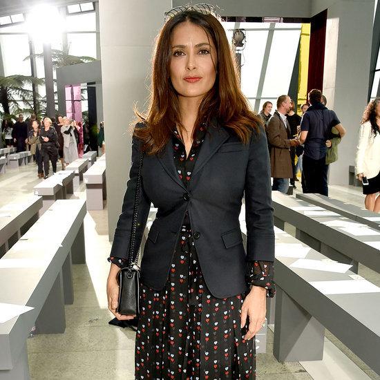 Salma Hayek at London Fashion Week 2015