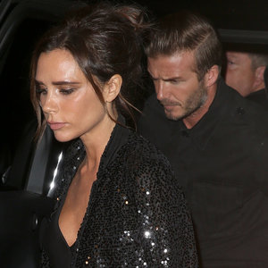 David and Victoria Beckham at Her Store in London