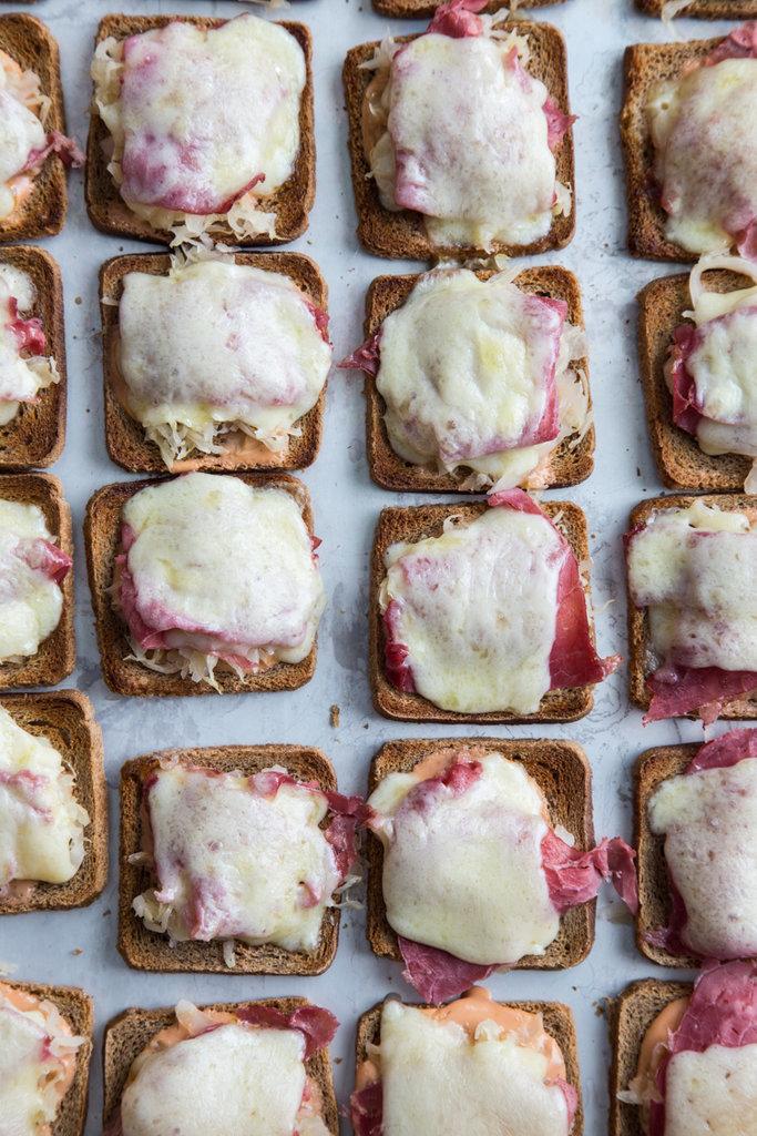 Mini Reuben Toasts