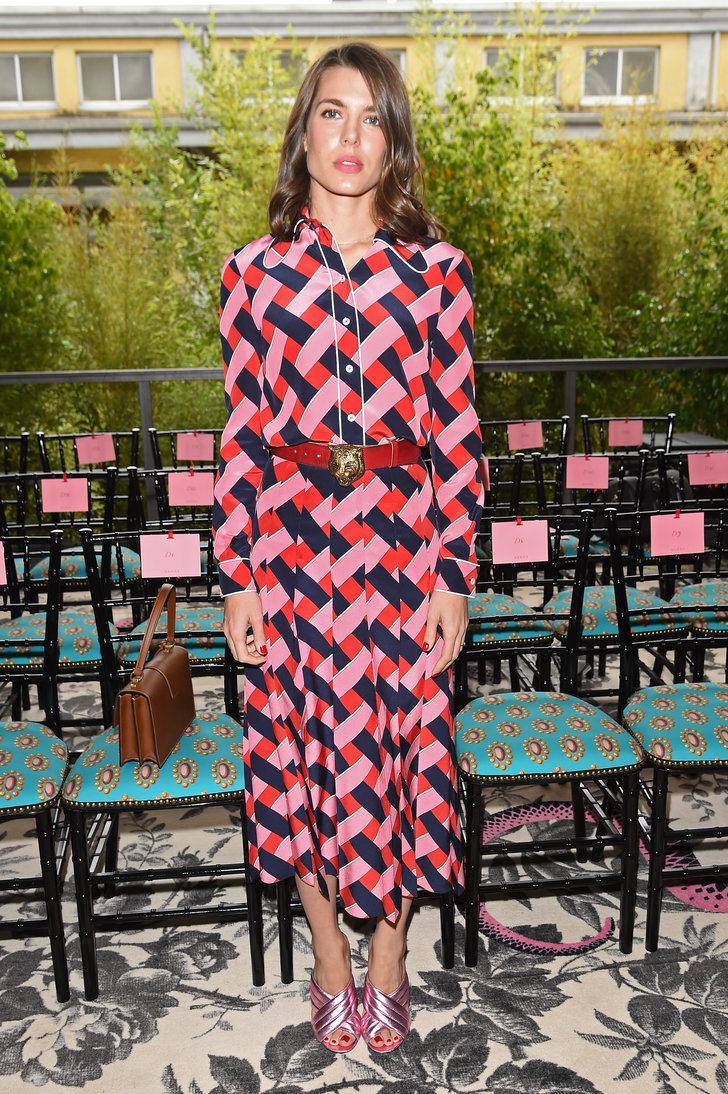Charlotte Casiraghi Front Row Summer/Spring 2016 Gucci ...