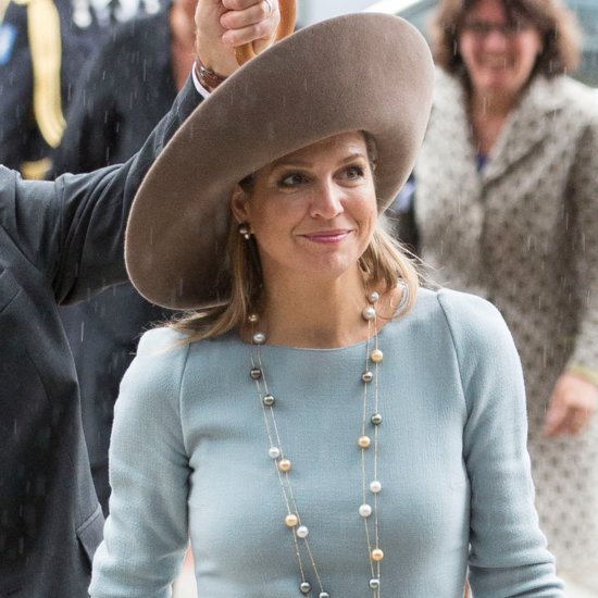 Dutch Queen Maxima Wearing a Giant Hat