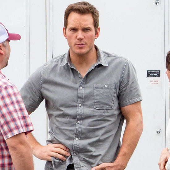 Jennifer Lawrence and Chris Pratt on Set of Passengers