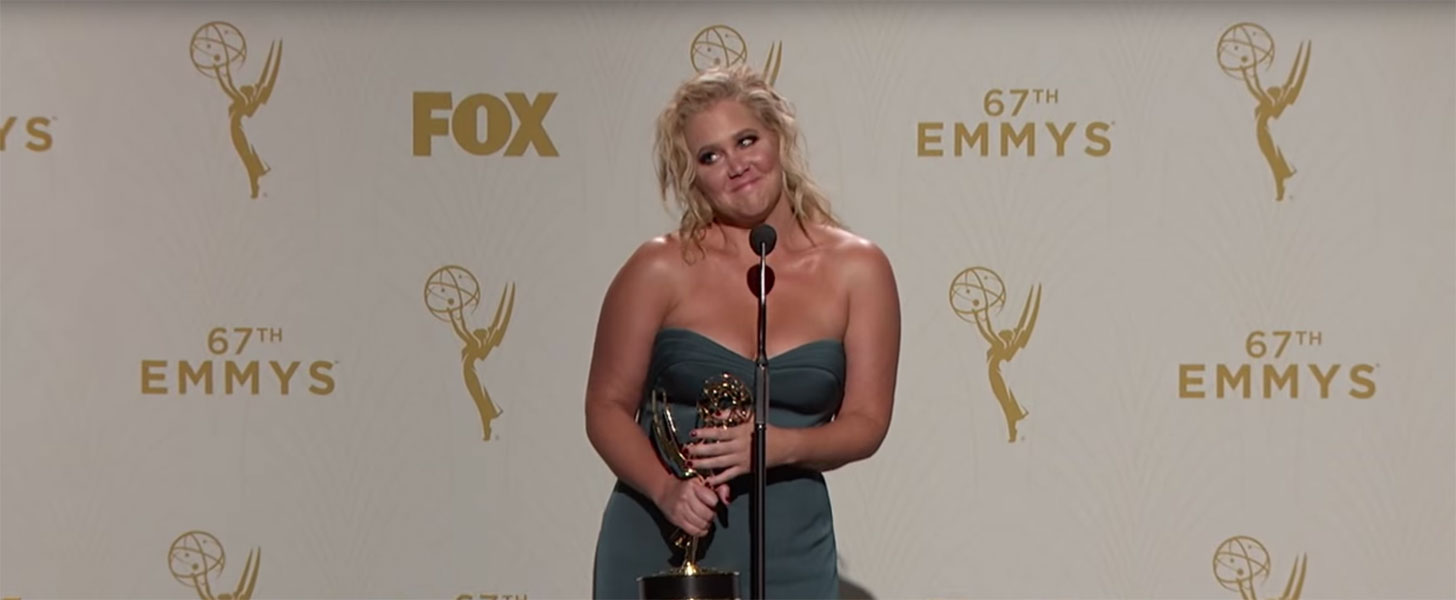 You Can't Miss Amy Schumer's Hilarious Press Room Interview at the Emmys