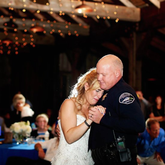 Bride Whose Father Died Shares Wedding With Officers
