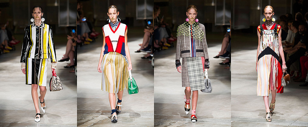 Pinstripes and Power Suits: Every Look From Prada's Spring Summer 2016 Runway Show