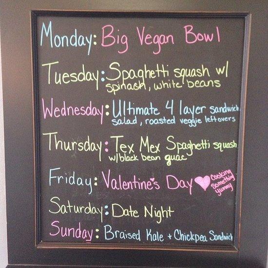 Weekly Dinner Plan Ideas