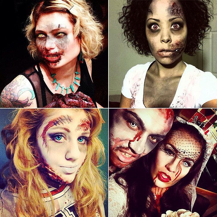 Zombie halloween wedding dress ideas