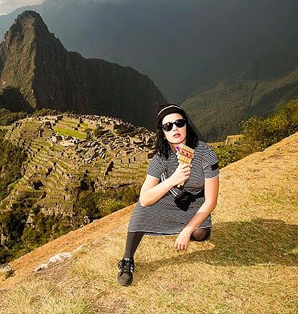 Katy Perry Playing Pan Flute in Machu Picchu