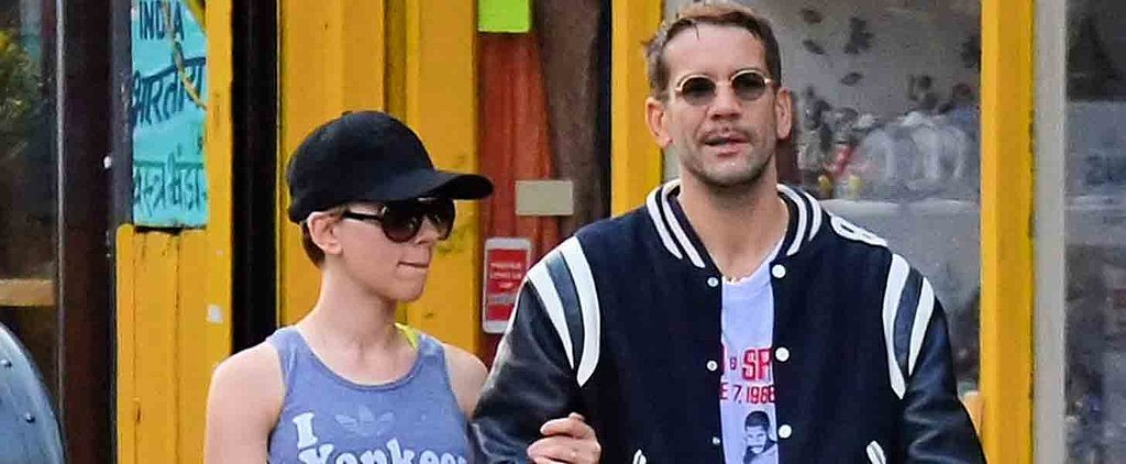 Scarlett Johansson and Her Husband Link Arms in the Big Apple