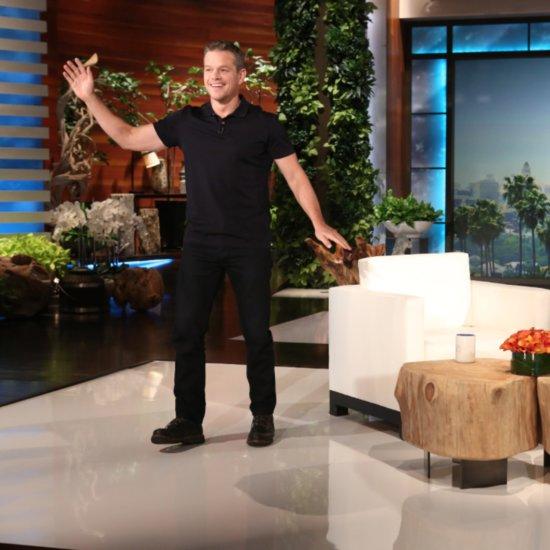 Matt Damon Dances on Ellen DeGeneres September 2015