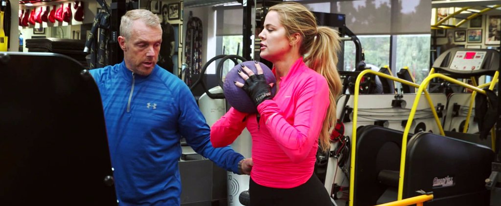 Khloé Kardashian Shows Us Her Workout, and It Looks Pretty Hard