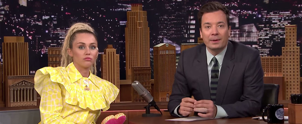 Jimmy Fallon Throws Hilarious Shade at Miley Cyrus in This Emotional Interview