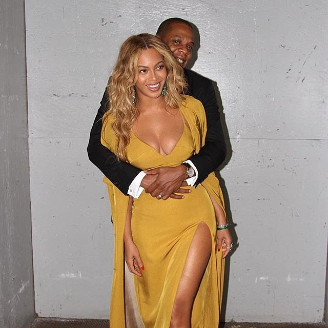 Jay Z wrapped his arms around his wife in an Instagram photo shared by Beyoncé in October 2015.
