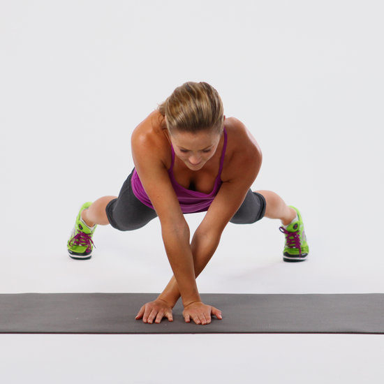 Plank Side Walk Core Exercise | GIF