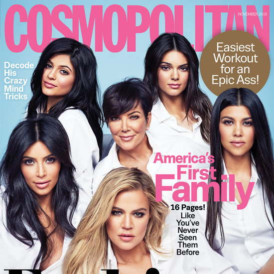 The Kardashian-Jenners on Cosmopolitan Cover November 2015