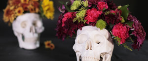 A DIY Skull Floral Arrangement You'll Want to Keep All Year