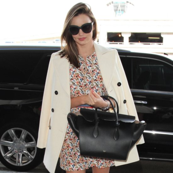 Miranda Kerr Just Made a Case For Wearing a Minidress to the Airport