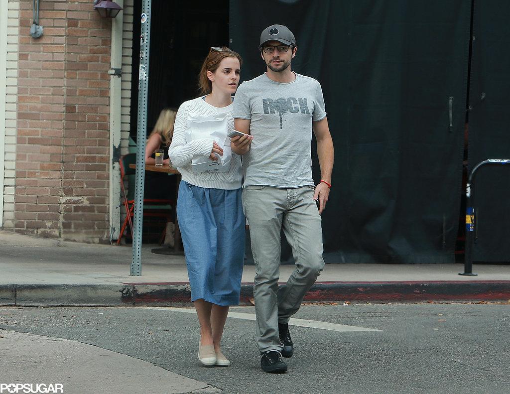 Emma Watson With New Boyfriend Roberto Aguire   POPSUGAR ... Emma Watson Boyfriend