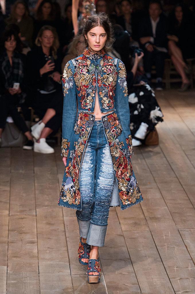 Alexander Mcqueen Spring 2016 Your Guide To Paris Fashion Week 39 S Biggest Trends Popsugar Fashion