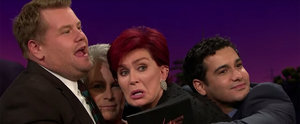 """James Corden Gets """"Touchy-Feely"""" With Jamie Lee Curtis and Sharon Osbourne"""