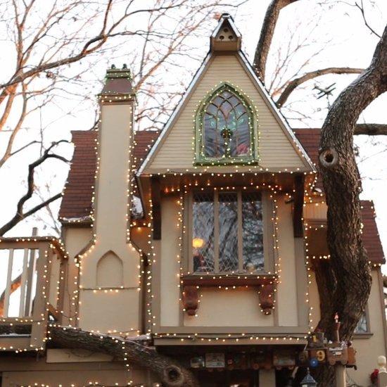 Grandparents Build Treehouse For Grandchildren