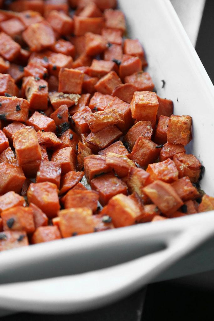 Twice-Cooked Sweet Potatoes