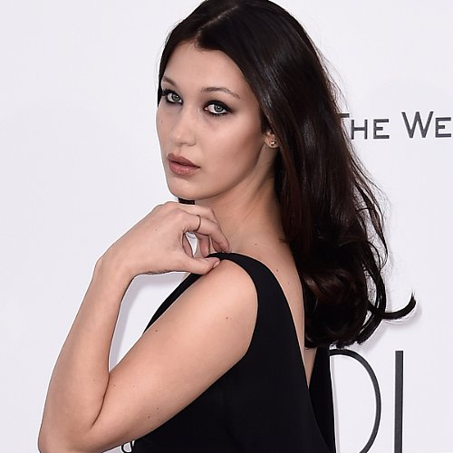 Bella Hadid Wearing Black Dress