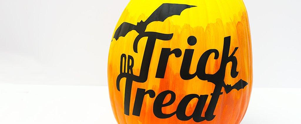 This No-Carve Halloween Pumpkin DIY Is a No-Brainer