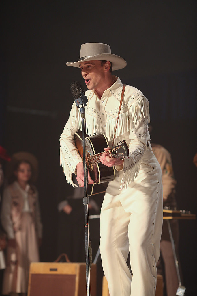 Here he is rocking a white suit.