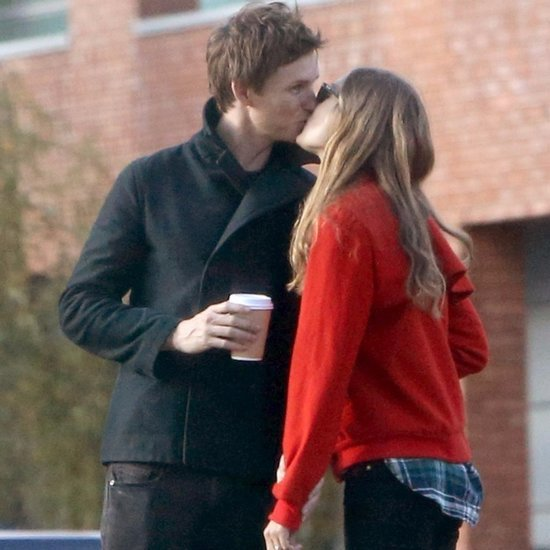Eddie Redmayne and Hannah Bagshawe Kissing in London