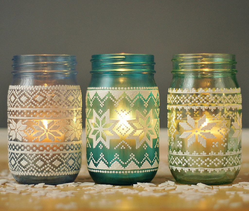 mason jar holiday decor popsugar home
