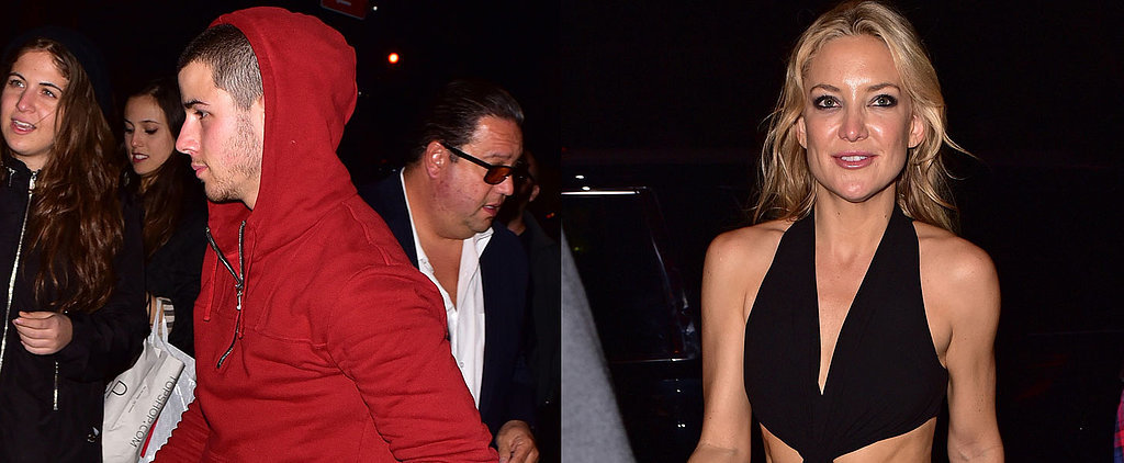 Kate Hudson Flashes Her Abs While Partying With Nick Jonas in NYC