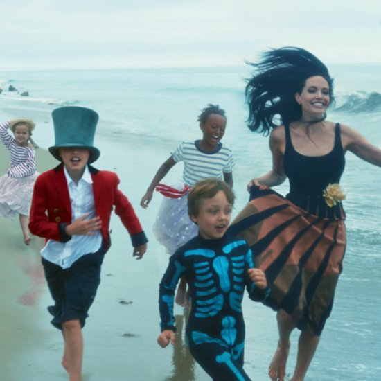 Angelia Jolie and Kids Vogue November 2015