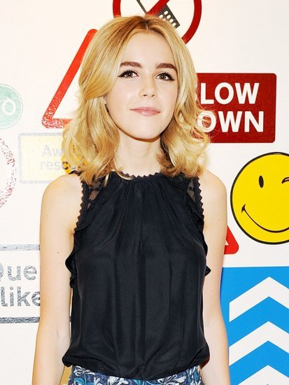 Kiernan Shipka Just Wore Insanely Good Printed Flares