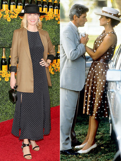 January Jones Channels Julia Roberts' Pretty Woman Character at Polo Match