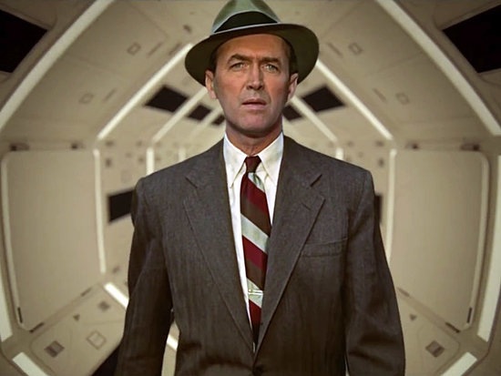 Jimmy Stewart Goes on a Crazy Space Odyssey in This Brilliant Alfred Hitchcock/Stanley Kubrick Movie Mashup