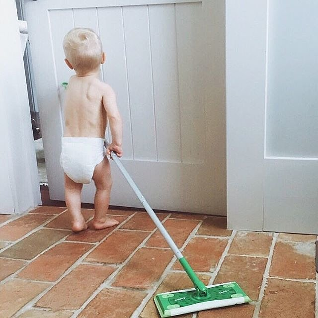 Everyone Pitches In With Household Chores