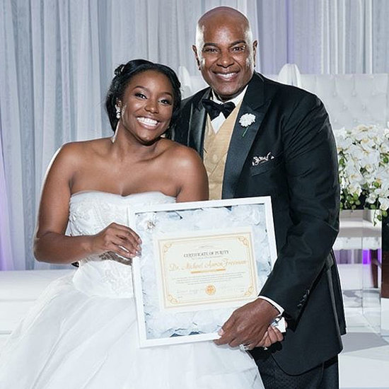 Bride Gives Dad Certificate of Purity on Wedding Day