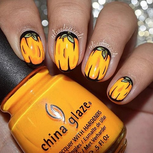 Pumpkin Nail Art Ideas