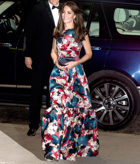 Kate Middleton Makes Floral Overload Work at Black-Tie Event - See Her Vibrant Erdem Gown