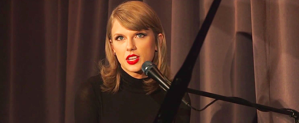 """Watch Taylor Swift's Intimate """"Out of the Woods"""" Performance From Her Private Concert"""