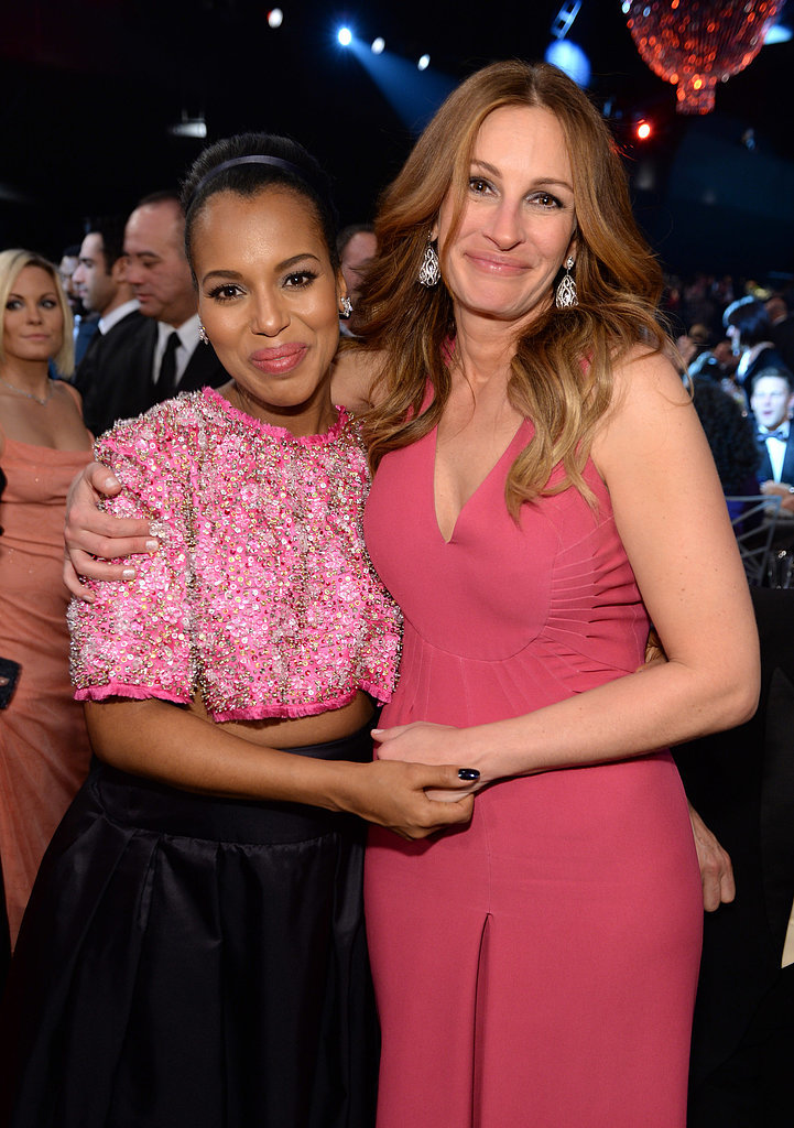She and Kerry Washington posed for an adorable snap at the SAG Awards in January 2014.