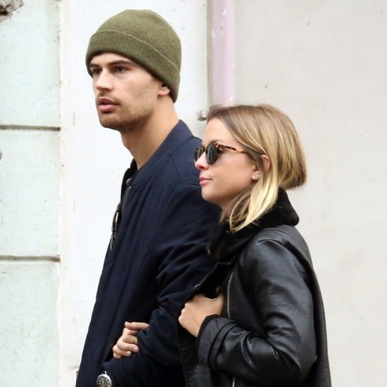 Theo James and Ruth Kearney Kissing in Prague October 2015